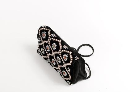 Ethnic hand-bag isolated on white background photo