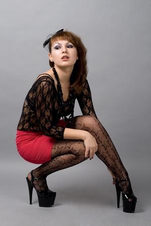Sexy gothic girl photo