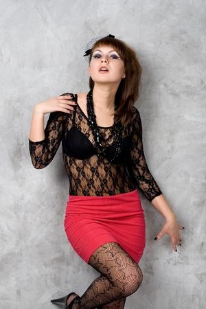 Studio portrait of a sexy gothic girl Stock Photo - 9481229