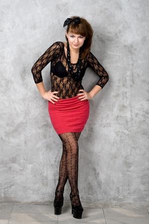 Cute gothic girl Stock Photo - 9481230