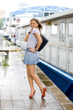 Travelling girl photo
