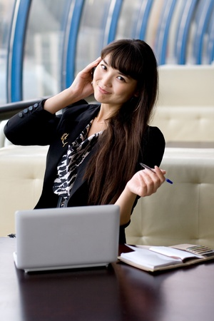 succesful: Businesswoman at work