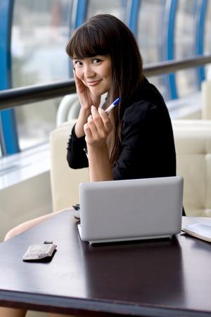 Businesswoman at work Stock Photo - 10142624