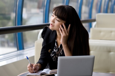 Businesswoman at work Stock Photo - 10142623
