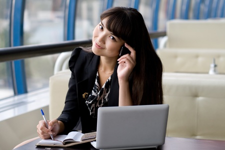 Businesswoman at work Stock Photo - 10142622