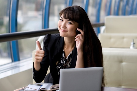 Businesswoman at work Stock Photo - 10142626