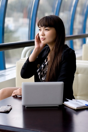 Businesswoman at work Stock Photo - 10609011