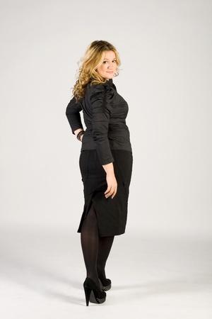 Studio portrait of a business lady photo