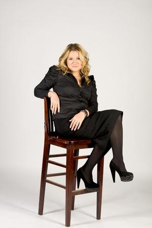 Studio portrait of a business lady