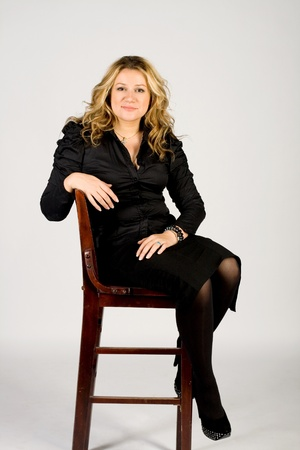 Studio portrait of a business lady photo