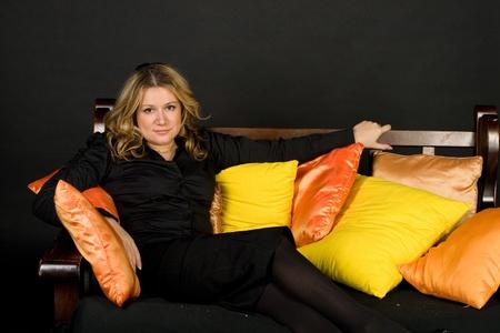 Studio portrait of a lady photo