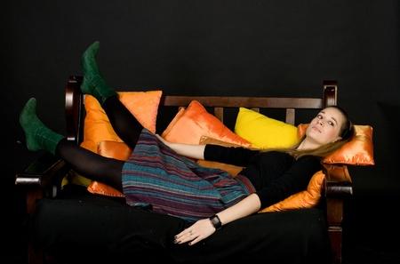 Studio portrait of a lady