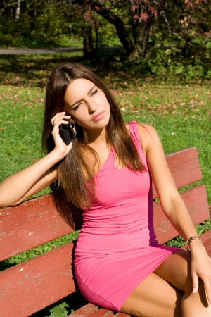 Girl talking by phone