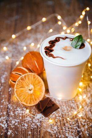 Coffee cocktail with chocolate food sweet cup