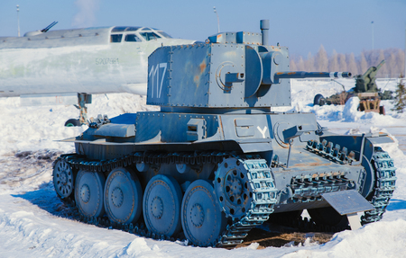 Tank 2 German world is in a museum in the Russian street