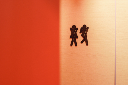 Male and female toilet