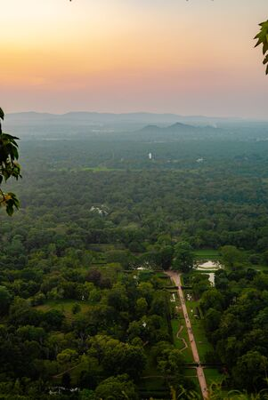 Beautiful sunset Asia Sri Lanka from a height 写真素材