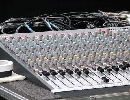soundboard: Soundboard for musical entertainment Stock Photo