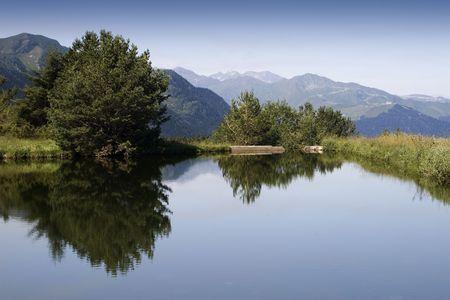 lagos: paisaje de monta�a Foto de archivo