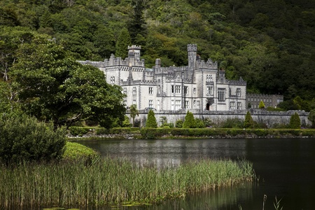 connemara: Kylemore Abbey in Connemara, Ireland Stock Photo