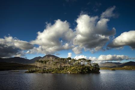 connemara: Derryclare Lough in Connemara region, Ireland Stock Photo