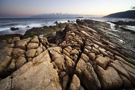 Rocky beach in southern Spain photo