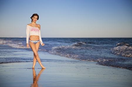 Sexy young girl in bikini on the beach Stock Photo - 11155810