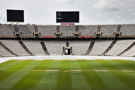 olympic game: The empty barcelona olympic stadium
