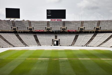 bleachers: The empty barcelona olympic stadium