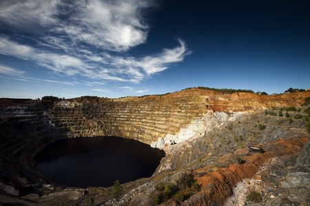 Copper mine open pit Atalaya Rio Tinto (Spain) photo