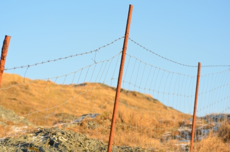 hindrance: Old Fence Stock Photo