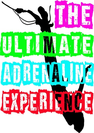 adrenaline: The Ultimate Adrenaline Experience, Bungee Tee Shirt Illustration