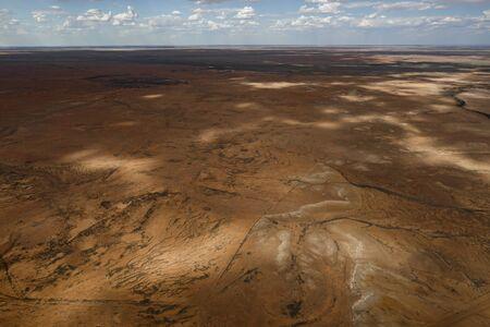 Lake Eyre Salt Flats South Australia aerial with little salt during the summer