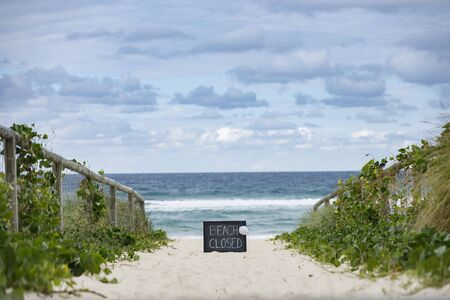 beach closed coronavirus, beach closed or shutdown concept amid covid 19 fears and panic over contagious virus spread, 2019-ncov forces international governments to lockdown beaches worldwide,
