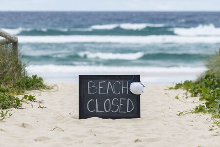 beach closed coronavirus, beach closed or shutdown concept amid covid 19 fears and panic over contagious virus spread, 2019-ncov forces international governments to lockdown beaches worldwide