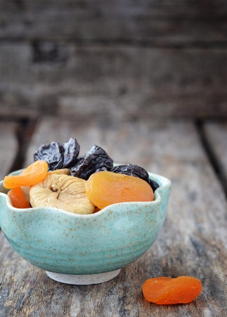 mix of organic  dried fruit  photo