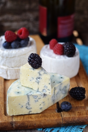 blue  cheese on the wooden table  photo