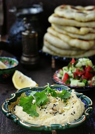 arabian food: hummus and other arabian food