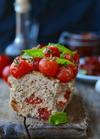 meat loaf with cherry tomato photo