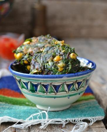 tunisian:  Tunisian falafel on ornamental plate Stock Photo