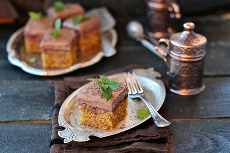 calorie rich food: coffee pastry with with cup of coffee
