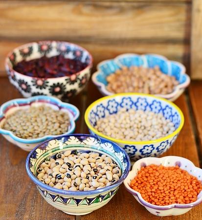leguminosas: Variedad de diferentes Legumbres TIPO