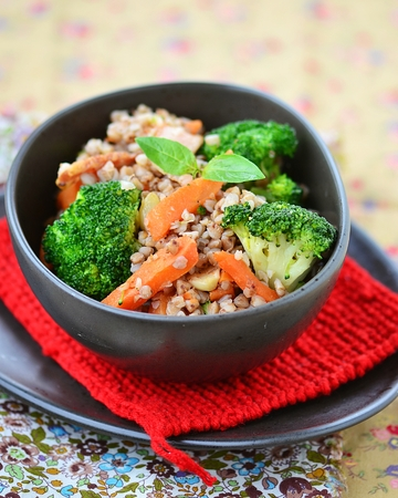 groat: buckwheat groat  with carrot  and broccoli