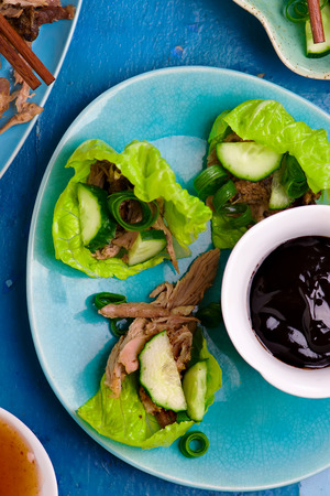 peking: Peking Duck . Chinese cuisine. selective focus.