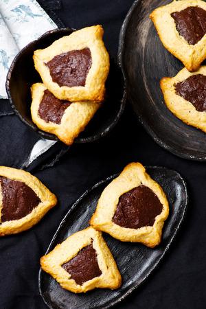 hamantaschen: hamantaschen cookies . selective focus