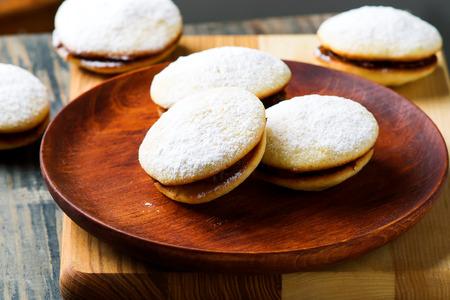 alfajores cookies.style rustic.selective focus Stock Photo