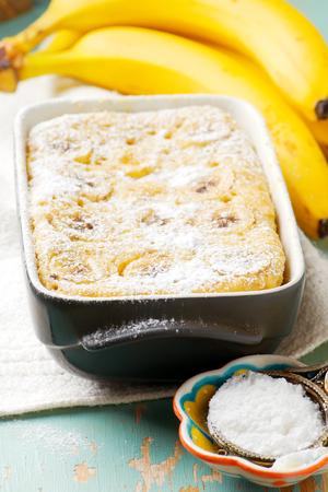 microondas: microwave banana pudding.selected focus