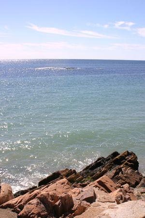 North Atlantic Ocean off of Rockport, Mass. Reklamní fotografie