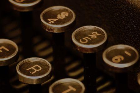 Typewriter Number and Letter Keys Reklamní fotografie