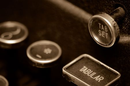Tab Keys on an Old Typewriter